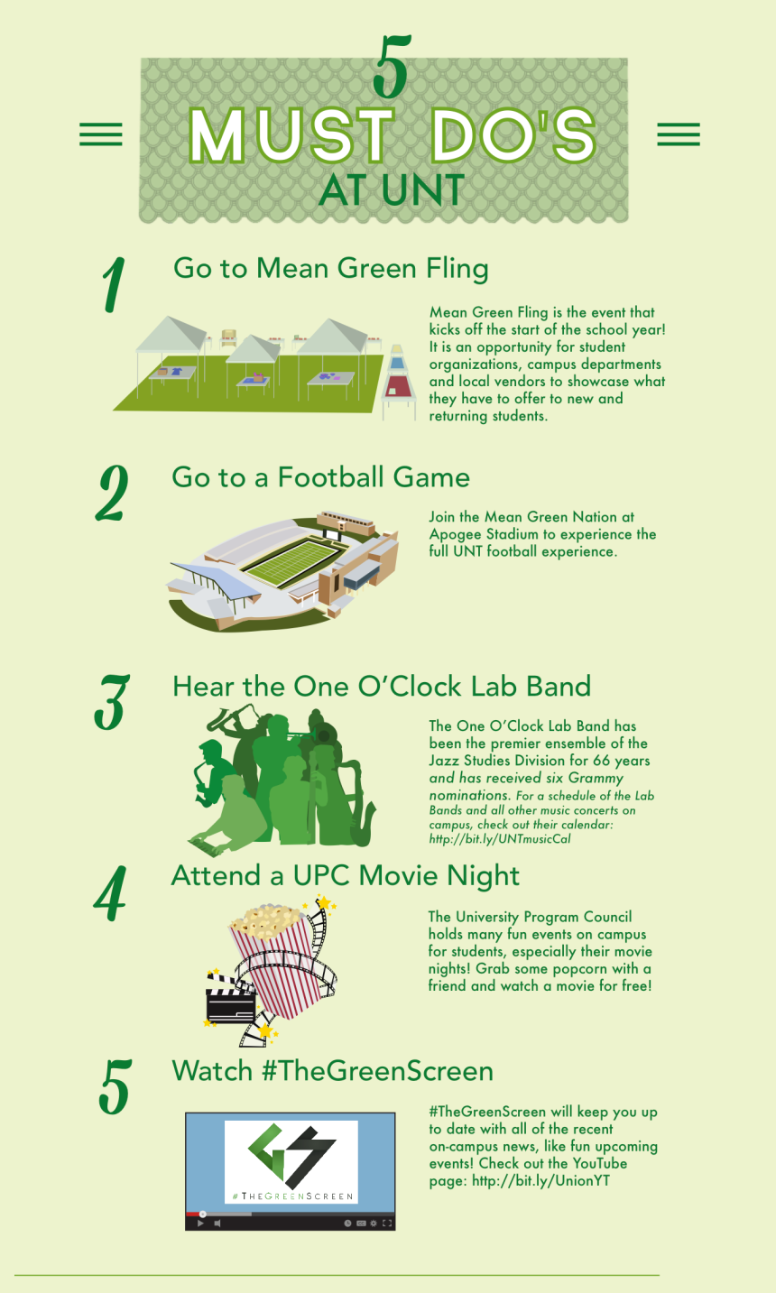 5 Must Dos at UNT (1)