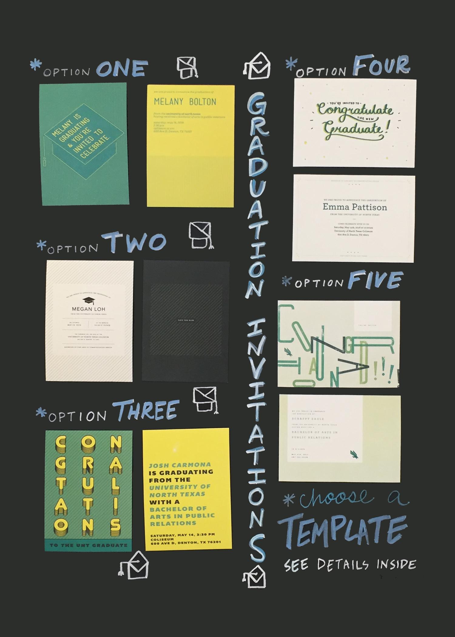 Graduation Photos and Invitations by Design Works – UNT University Union